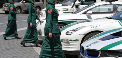 policja w Dubaju