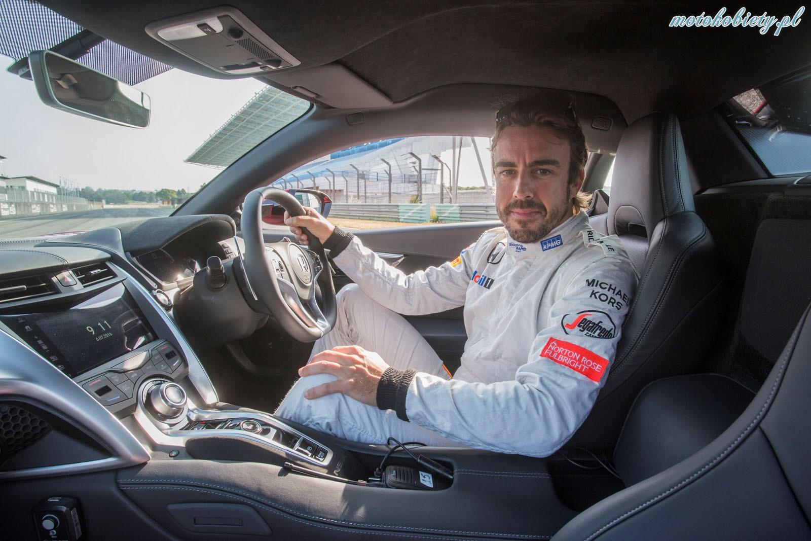 Fernando Alonso Honda NSX