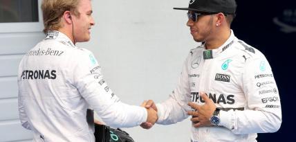 Rosberg i Hamilton