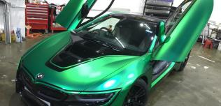 BMW i8 Green Chrome