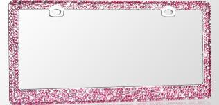 Zdobione ramki rejestracji