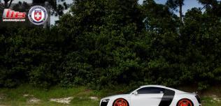 Audi R8 na kołach HRE P47SC