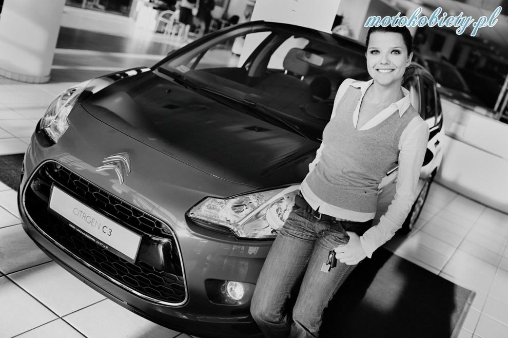 Joanna Jabłczyńska i jej Citroen C3