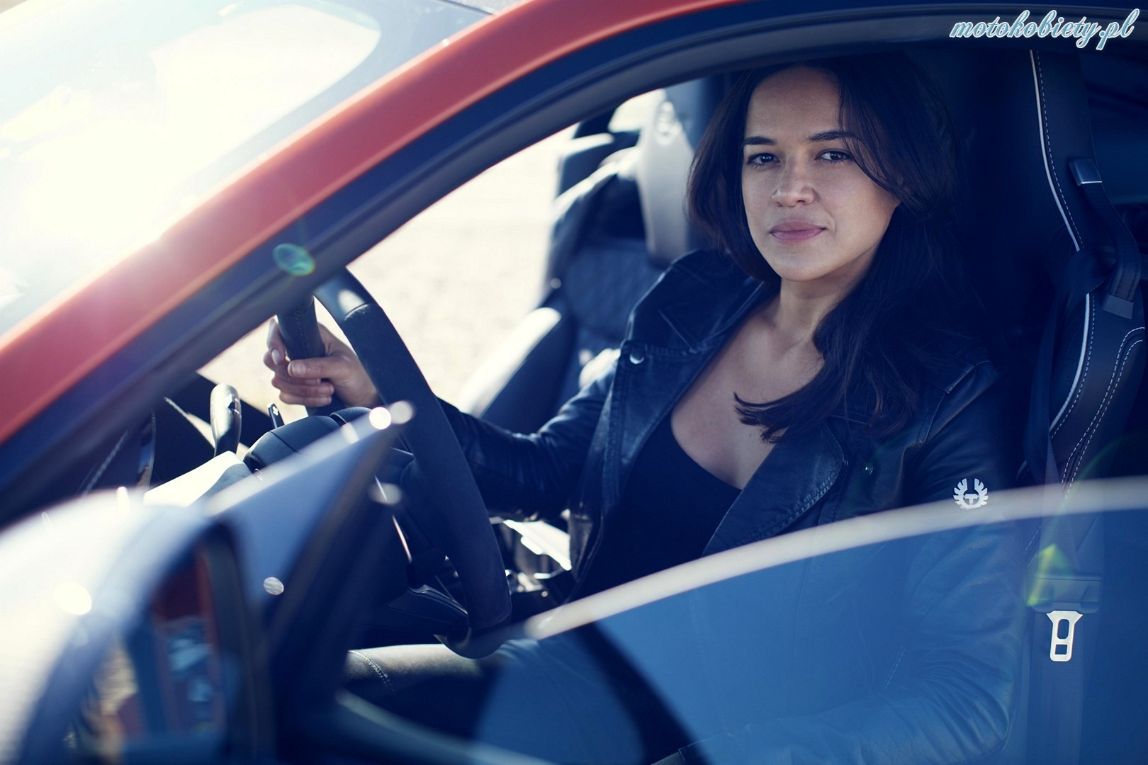 Michelle Rodriguez Jaguar F-Type SVR