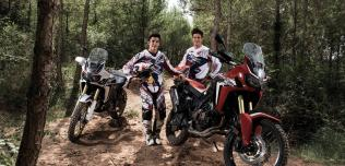 Marquez i Barreda testują nową Hondę Africa Twin