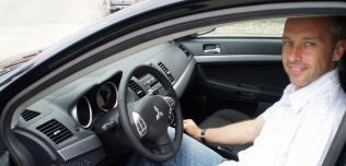 Tomasz Sikora i Mitsubishi Lancer Sportback