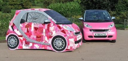Różowy patchwork - Smart